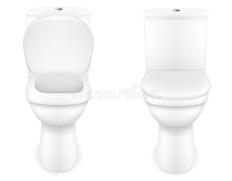 Toilet bowl vector illustration. Isolated on white background vector illustration
