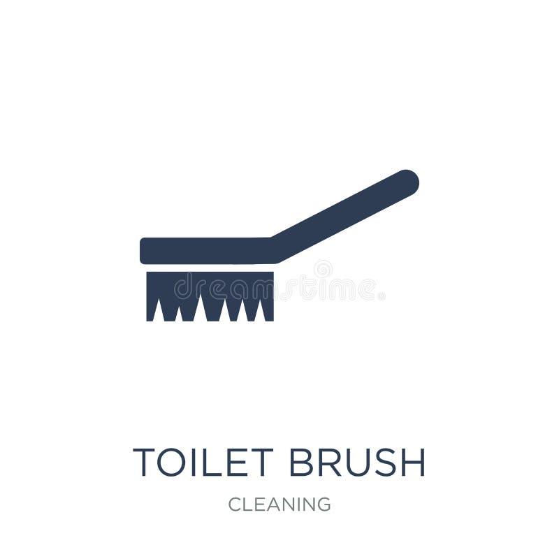 Toilet brush icon. Trendy flat vector Toilet brush icon on white stock illustration