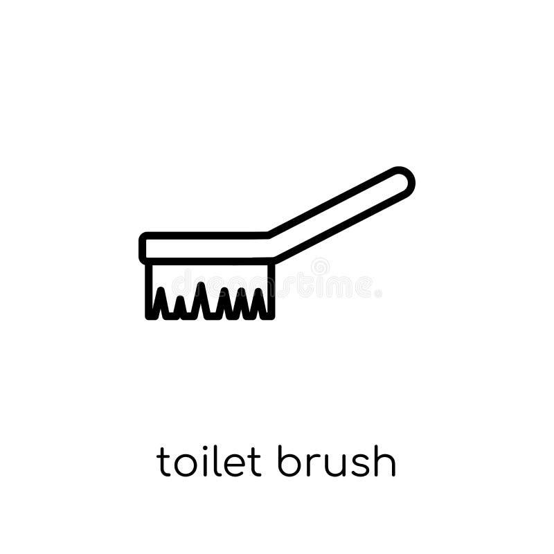 Toilet brush icon. Trendy modern flat linear vector Toilet brush vector illustration