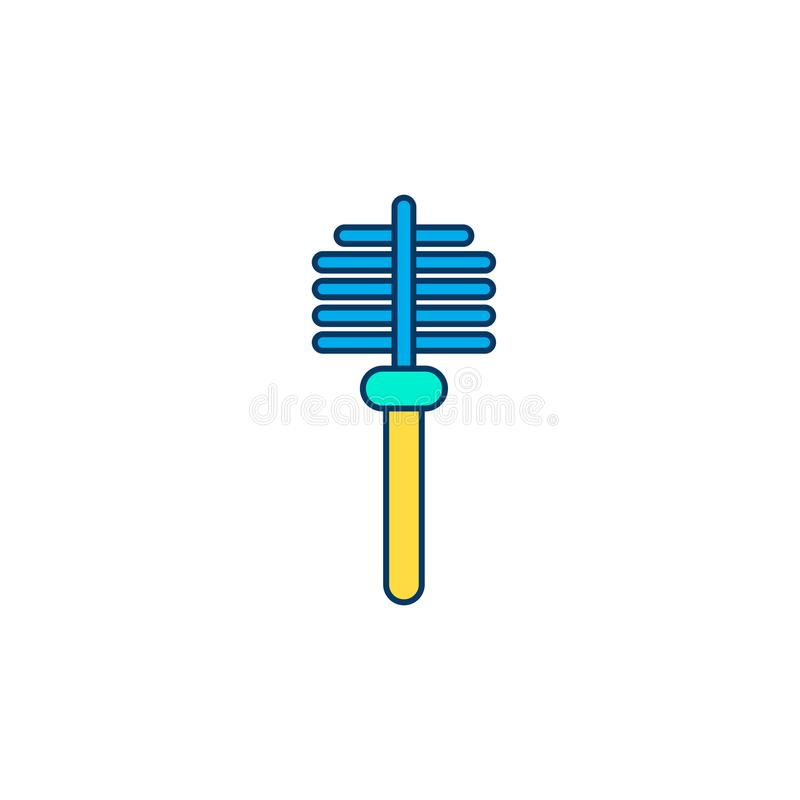 Toilet brush vector icon sign symbol royalty free illustration