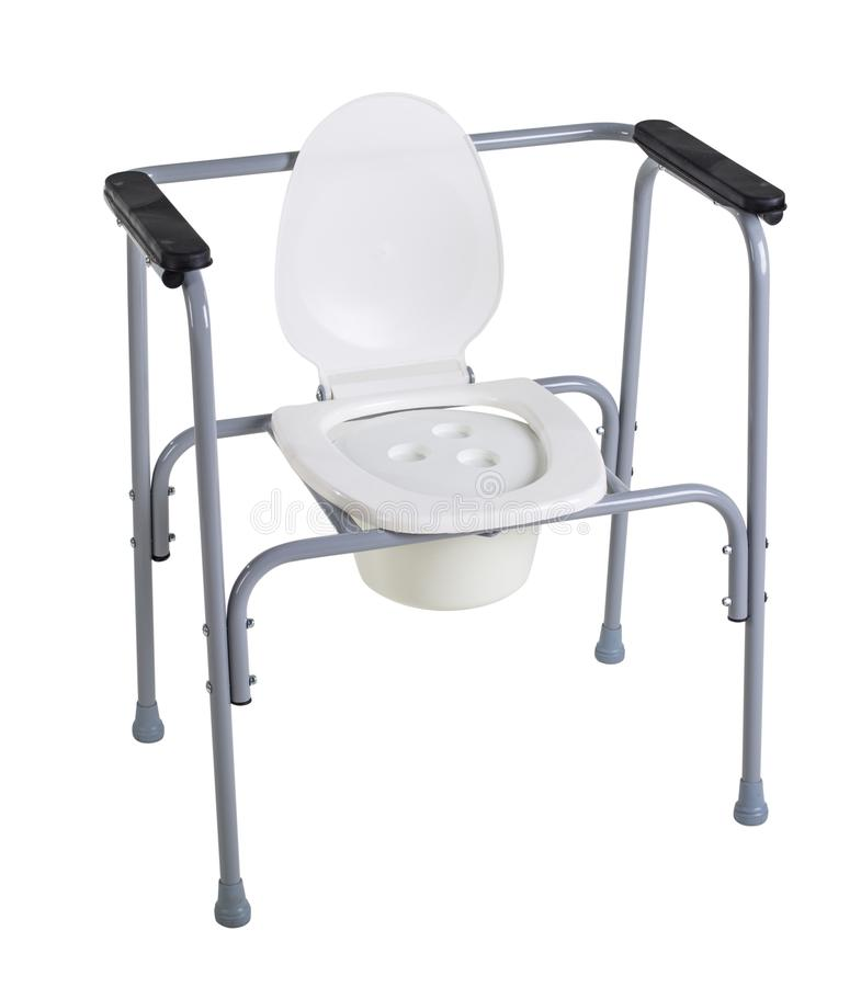 Toilet chair for rehabilitation in postoperative period, the eld. Erly, as well as patients who have disorders of the musculoskeletal system isolated on white stock image