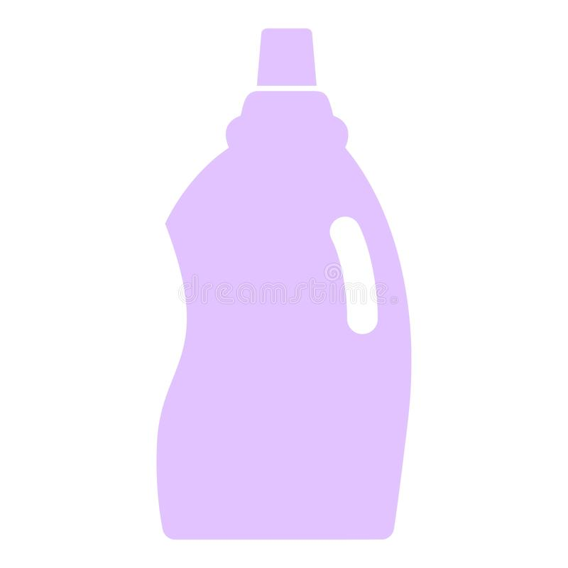 Toilet cleaner icon, flat style stock illustration