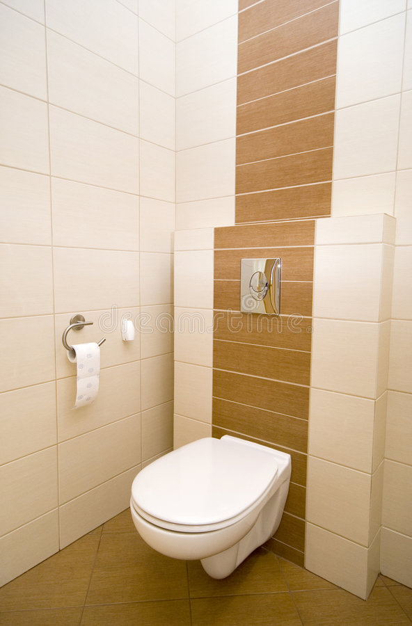 Toilet corner royalty free stock photography