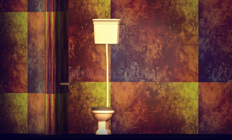 Download Toilet on designer wall stock illustration. Image of cistern - 16008531