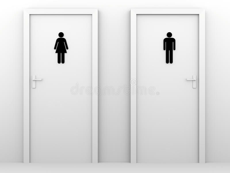 Toilet Doors Stock Photography