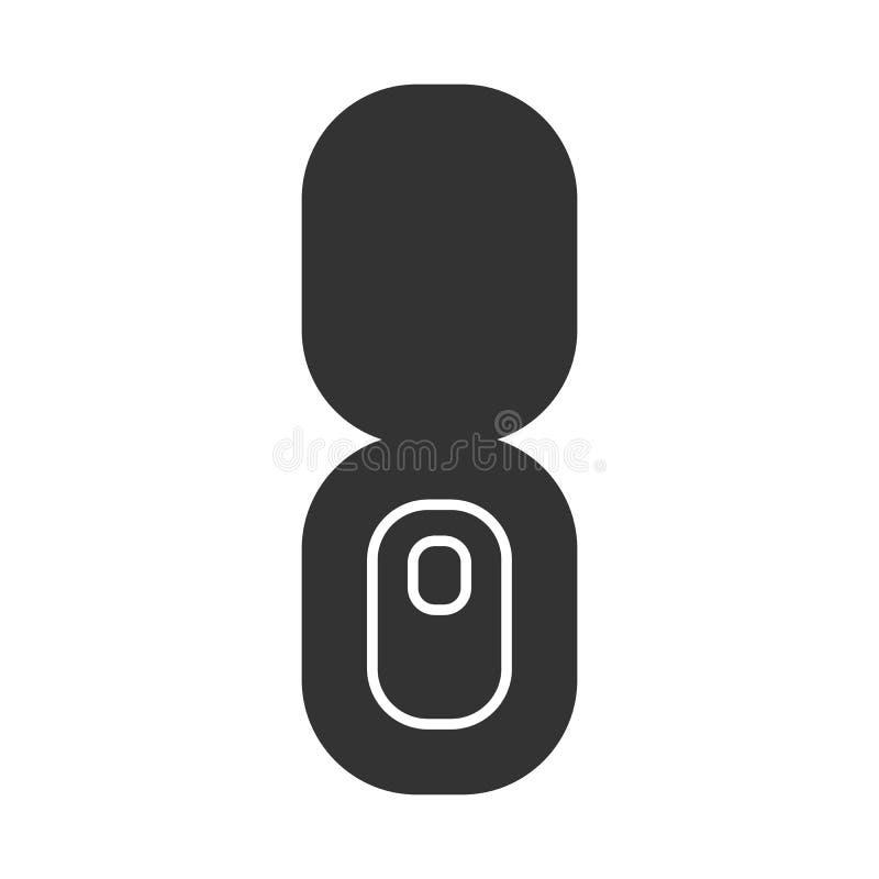 Toilet Flat Icon. Toilet Flat black Icon on a white background vector illustration