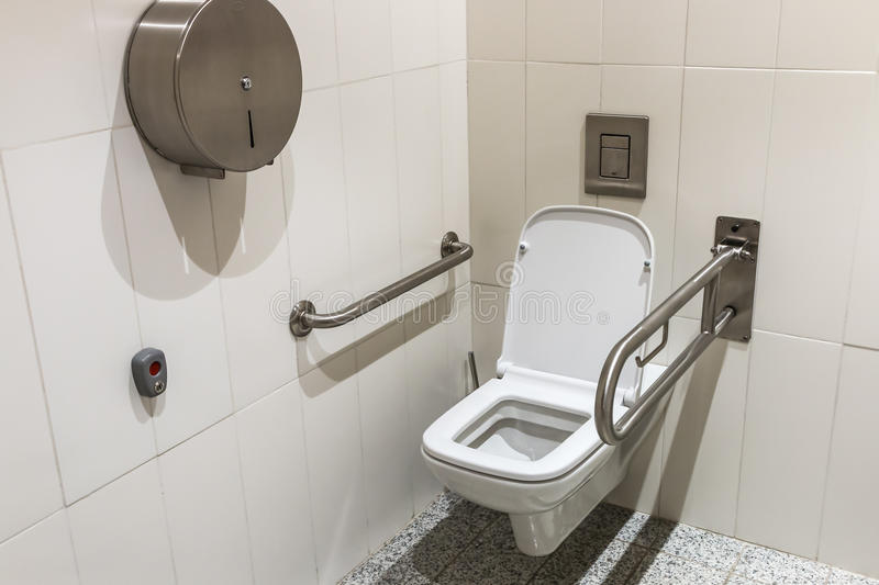 Toilet With Handrails For The Disabled Stock Image Image