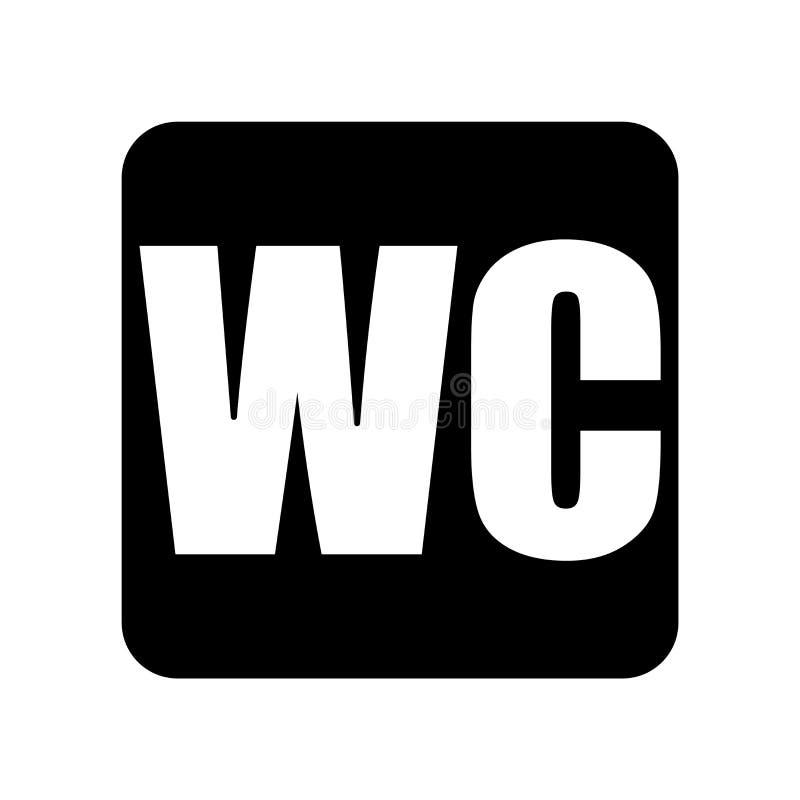 Toilet icon isolated on white background, Toilet sign vector illustration