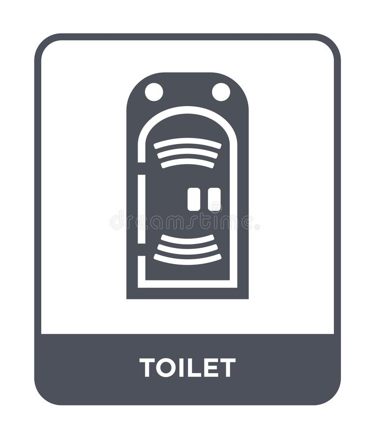 toilet icon in trendy design style. toilet icon isolated on white background. toilet vector icon simple and modern flat symbol for vector illustration