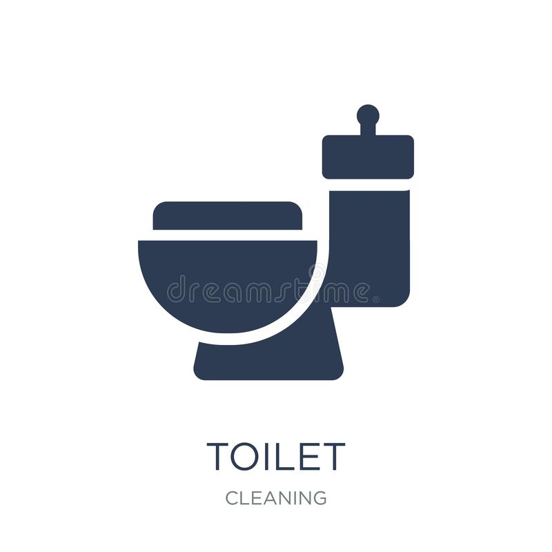 Toilet icon. Trendy flat vector Toilet icon on white background. From Cleaning collection, vector illustration can be use for web and mobile, eps10 royalty free illustration