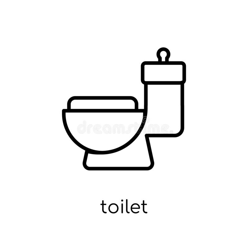 Toilet icon. Trendy modern flat linear vector Toilet icon on white background from thin line Cleaning collection stock illustration