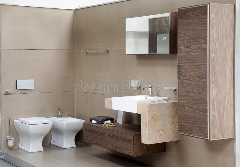 Toilet interior stock images
