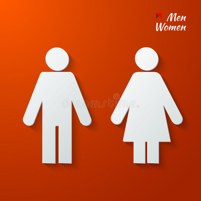 Toilet label stock illustration