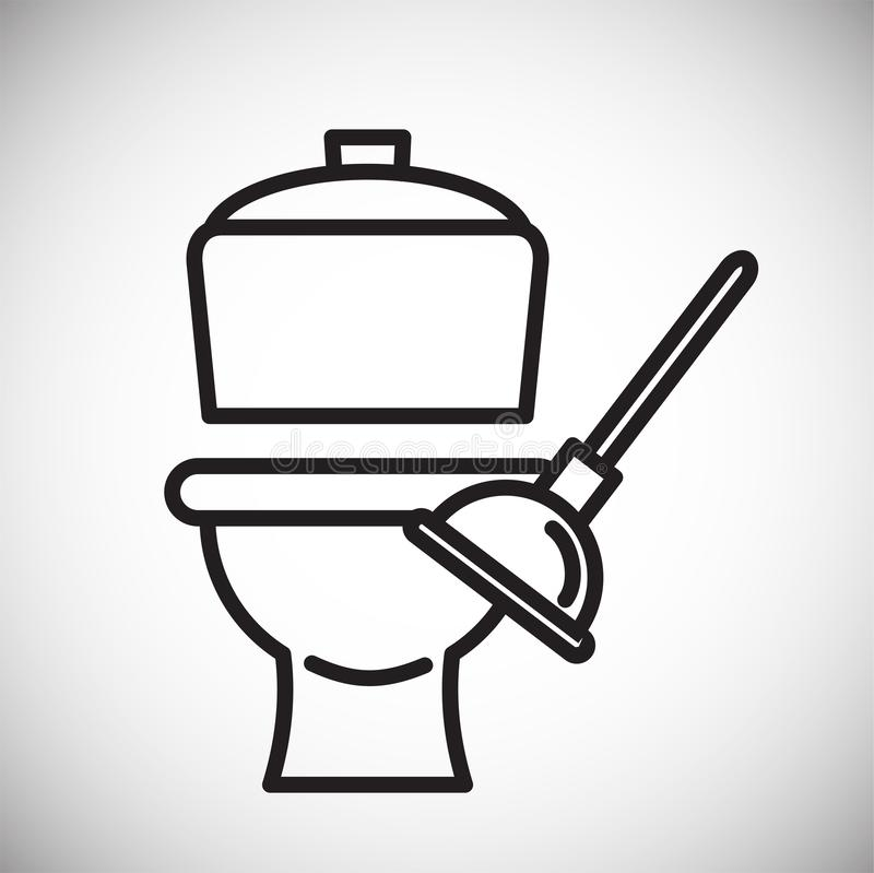 Toilet line icon on white background for graphic and web design, Modern simple vector sign. Internet concept. Trendy symbol for stock illustration