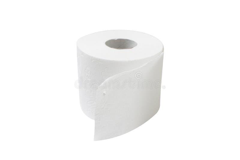 Toilet paper. Isolated on white bg royalty free stock photos