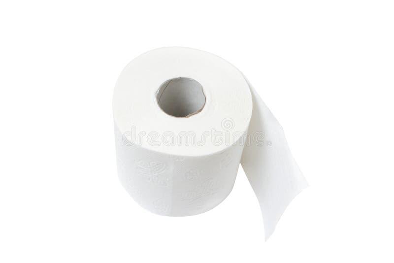 Toilet paper. Isolated on white bg stock photo