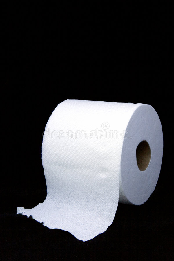 Toilet Paper on Black royalty free stock photography