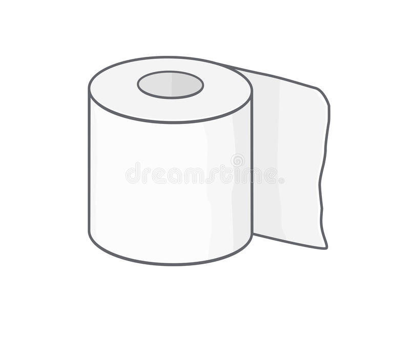 Toilet paper stock vector. Illustration of health, toilet ...