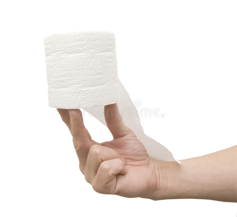Toilet Paper In Hand Stock Photos