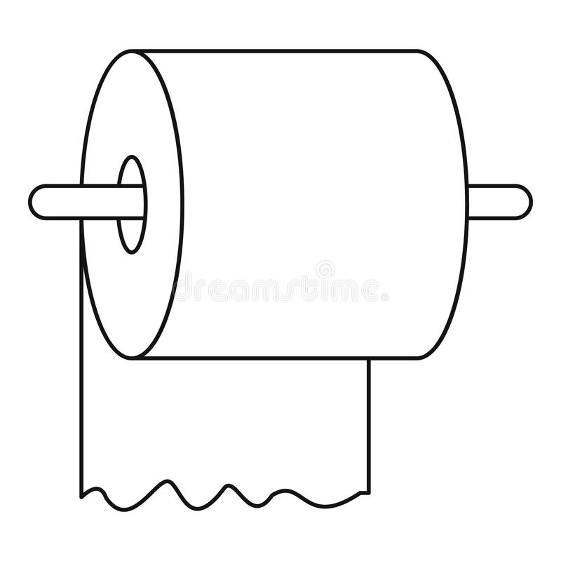 Toilet Paper Holder Stock Illustrations