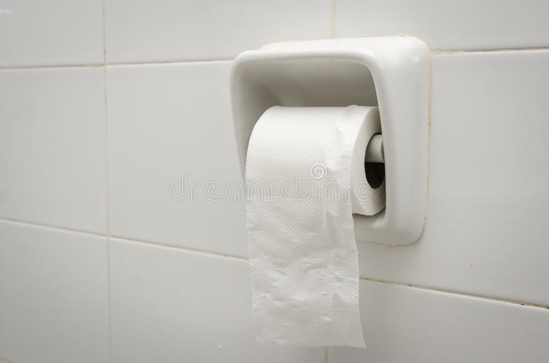 Toilet paper holder royalty free stock photo
