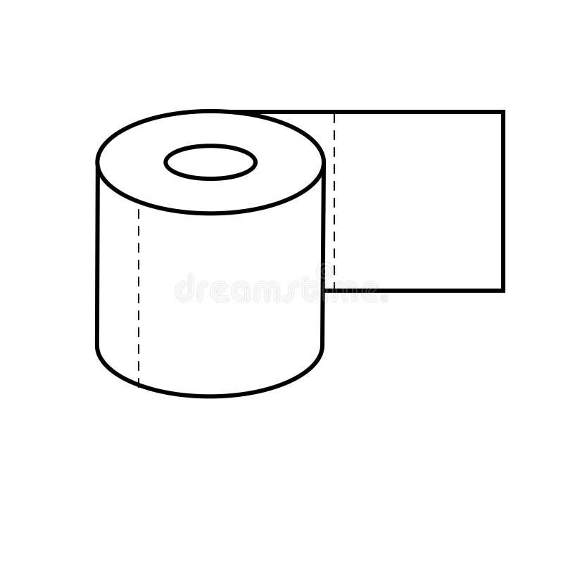 Toilet Paper Icon royalty free illustration