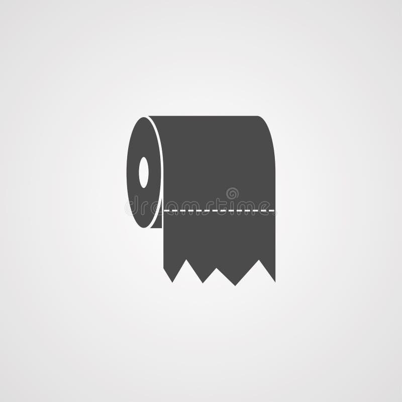 Toilet paper vector icon sign symbol vector illustration