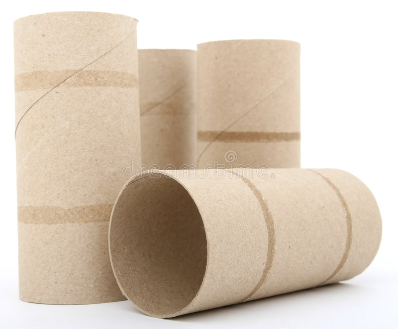 Toilet Paper Rolls Stock Photo