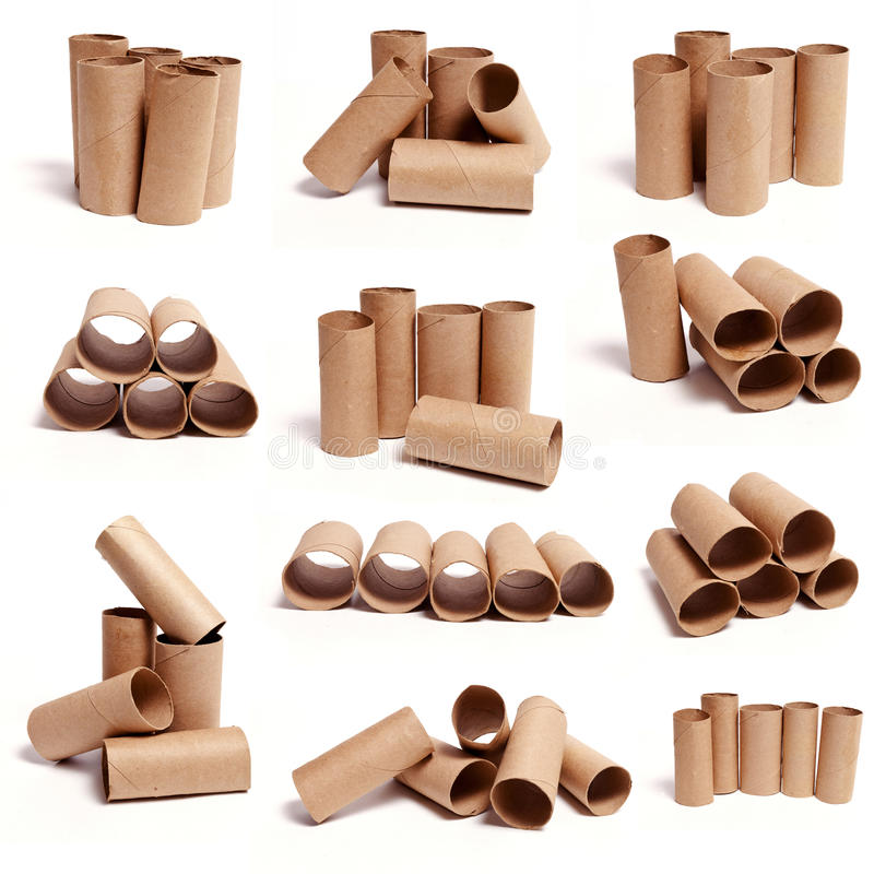 Toilet Paper Tube Collections stock photo