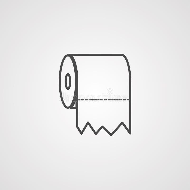 Toilet paper vector icon sign symbol stock illustration