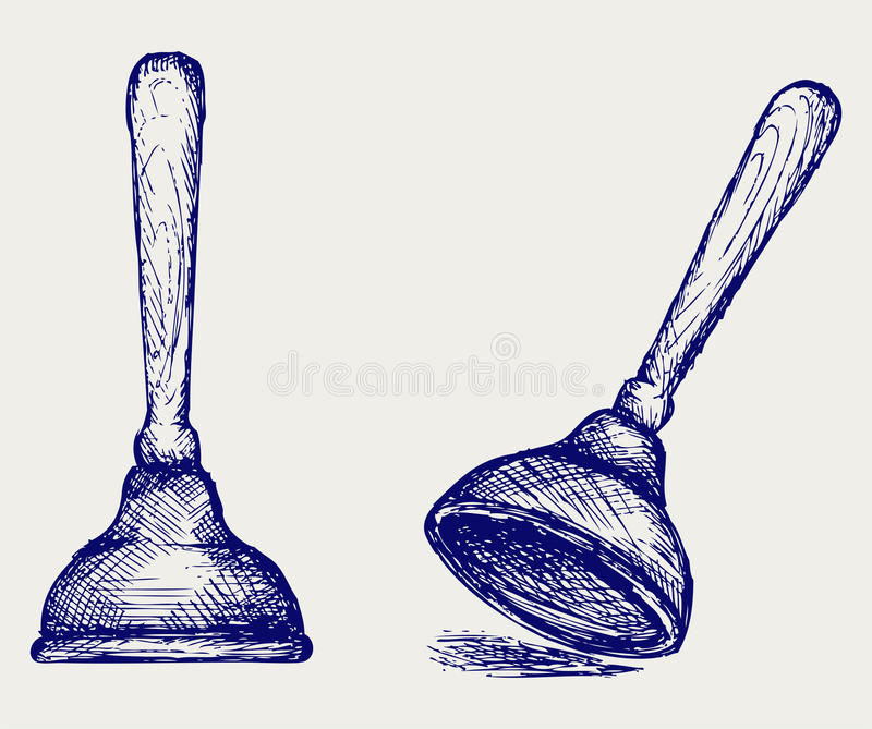 Download Toilet plunger stock vector. Illustration of artistic - 30267112