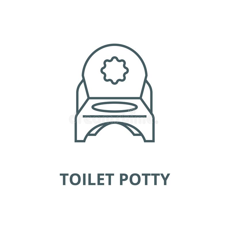 Toilet potty vector line icon, linear concept, outline sign, symbol vector illustration
