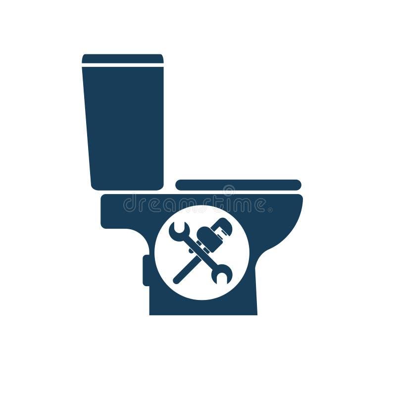 Toilet Repair icon stock illustration