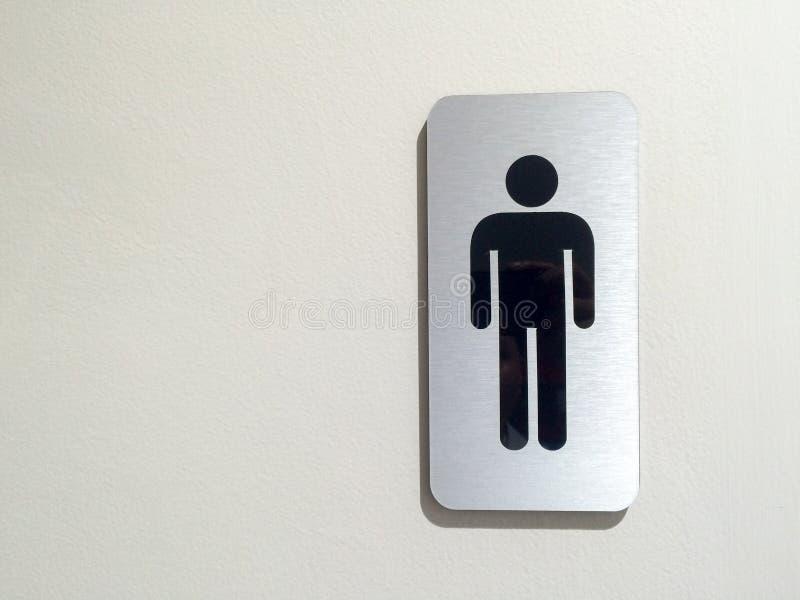Toilet& x28; restroom& x29; símbolo de los hombres en la tienda del apartamento, lugar público, diseño del arte foto de archivo libre de regalías