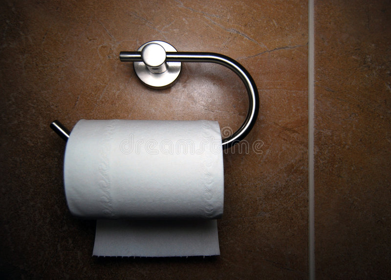 Toilet roll royalty free stock image