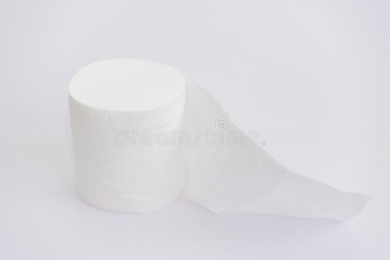 Toilet roll. On white background royalty free stock image