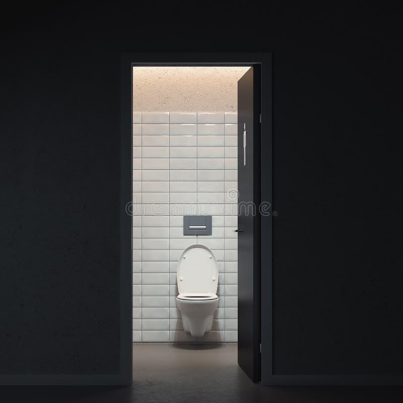 Toilet room interior design with built-in toilet in Modern flat. 3d rendering. stock image