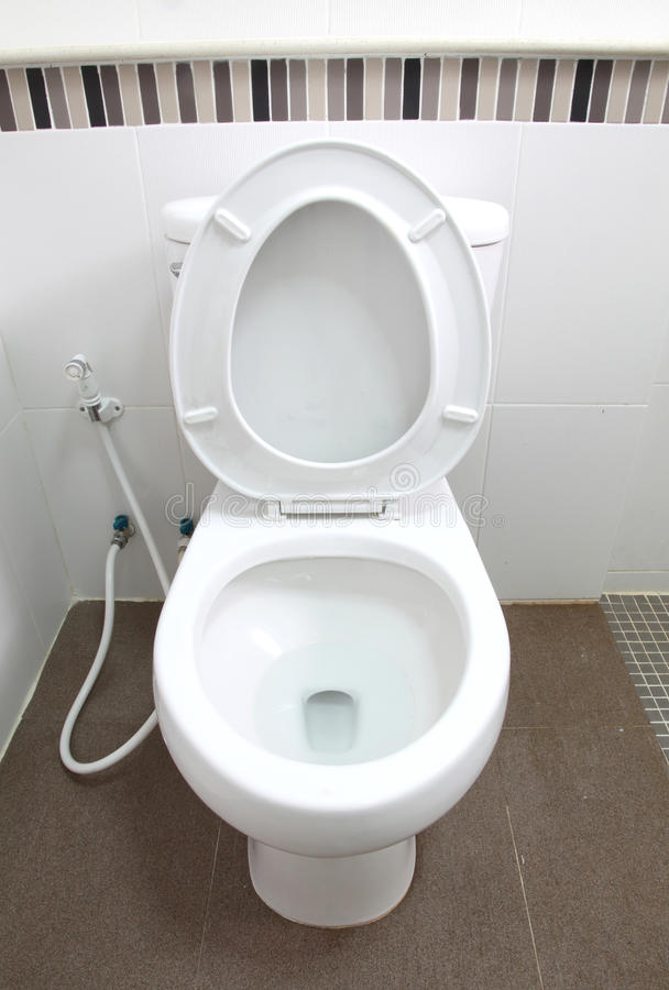Download Toilet Seat In Bathroom Royalty Free Stock Photography - Image: 23371477