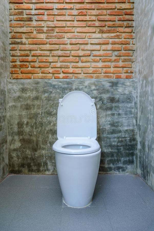 Toilet seat decoration in bathroom interior stock photography