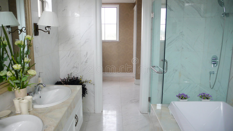 toilet and shower royalty free stock photos