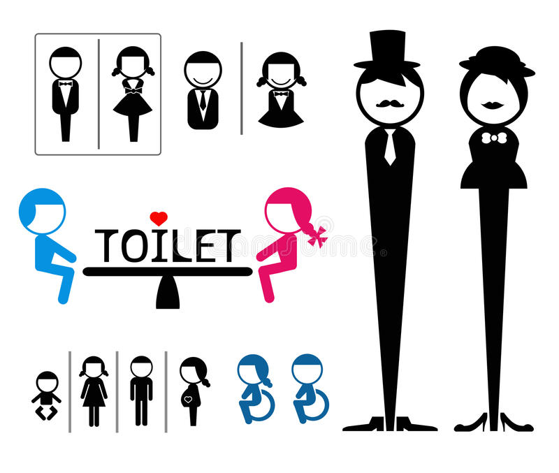 Toilet sign stock illustration