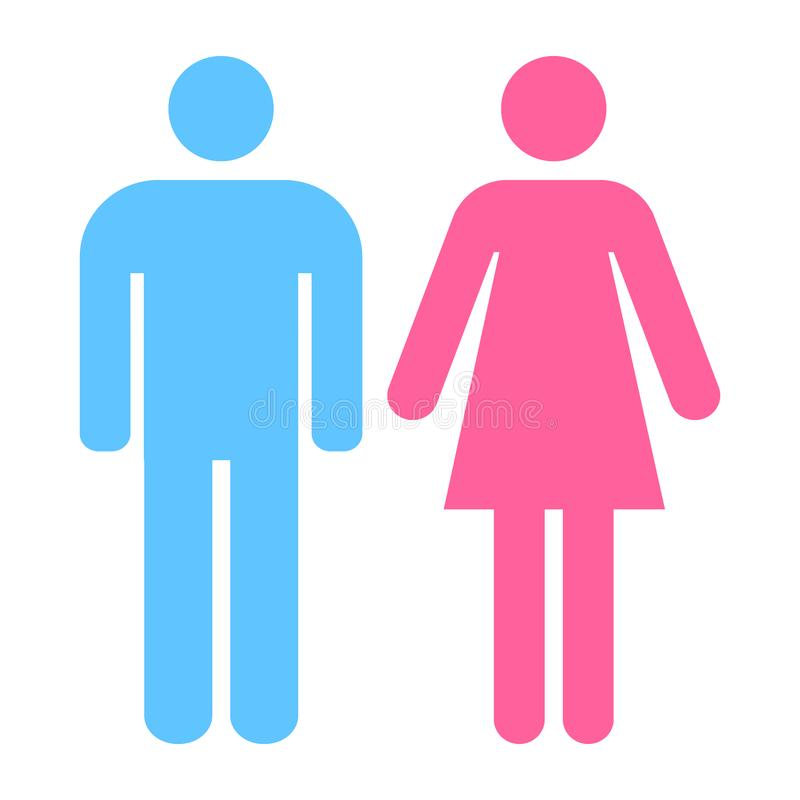 Toilet sign for men and women vector. Toilet sign men and women can be used for airport, office,mall and restaurant