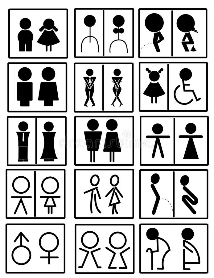 bathroom sign vector. Toilet Sign Vector Bathroom N