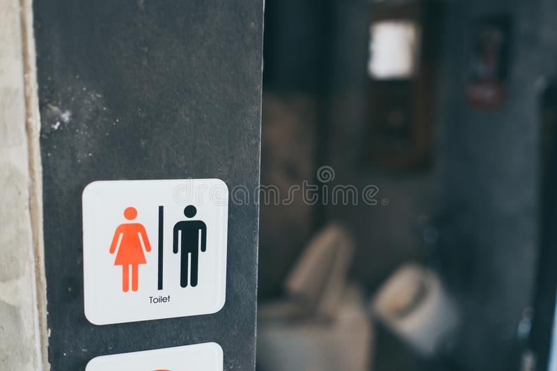 Toilet sign women and gentleman stock photo