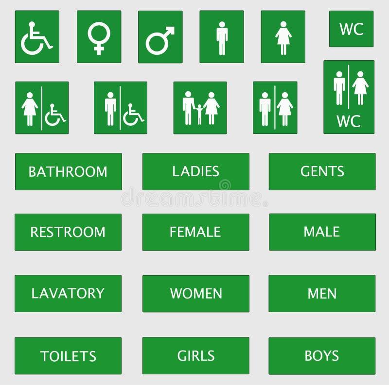 Toilet signs stock illustration