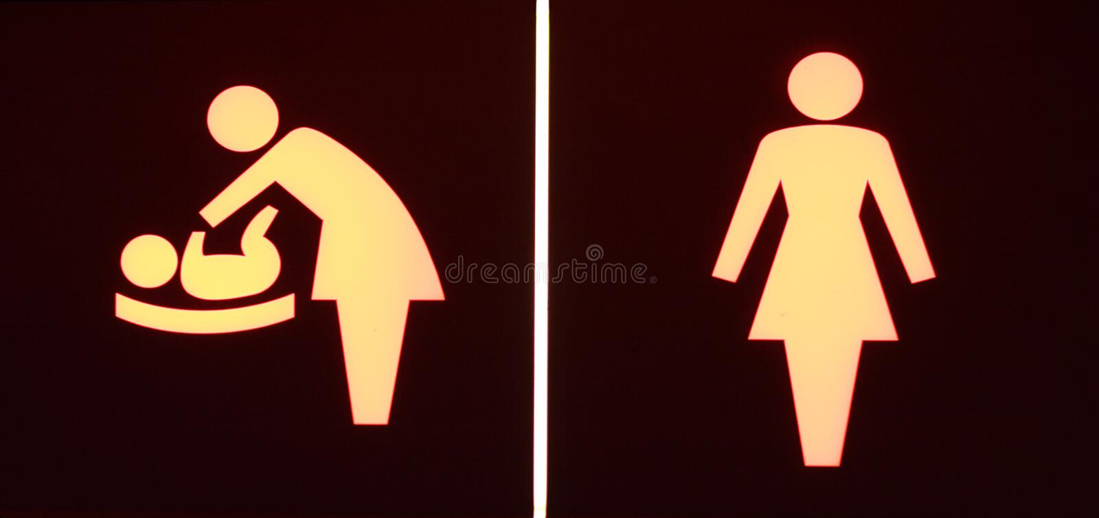 Download Toilet signs stock photo. Image of enter, icon, closet - 4904212