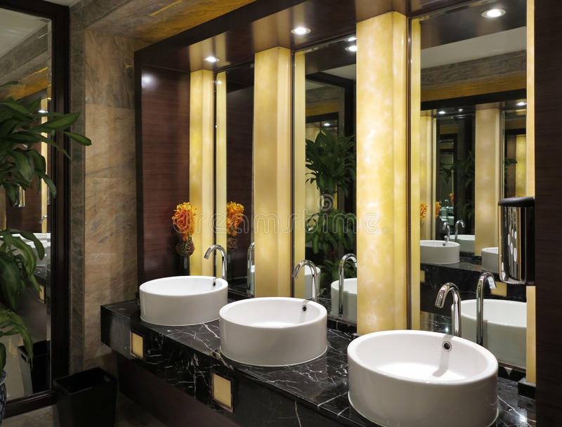 Download Toilet Sinks Mirror Stock Image Of Hotel Ambient
