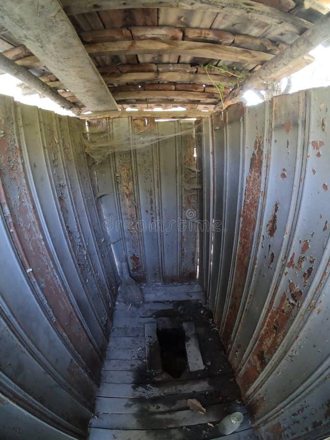 Abandoned Outhouse Stock Image Image Of Privy Moon Aged