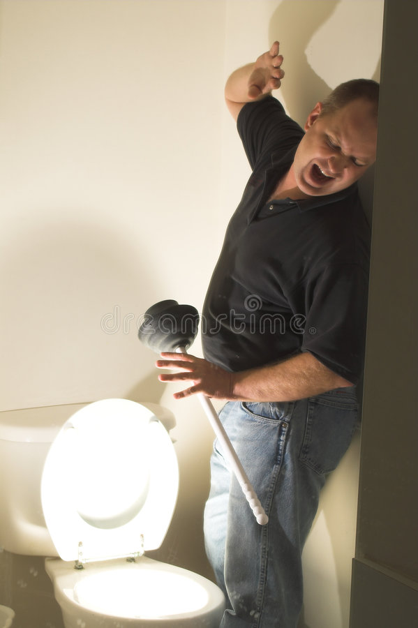Toilet Terror. Untold horrors that lie beneath the household plumbing royalty free stock image
