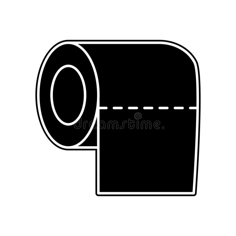 Toilet tissue paper roll icon. Element of bathroom for mobile concept and web apps icon. Glyph, flat icon for website design and. Development, app development royalty free illustration